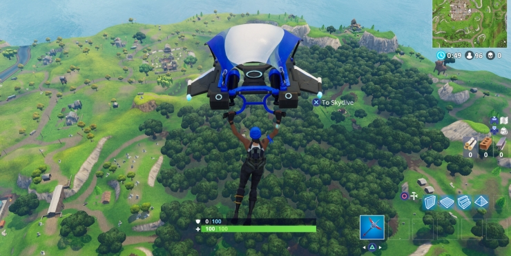 Fortnite - Getting Dropped From the Flying Bus