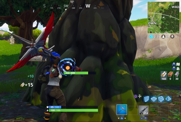 Gathering Supplies in Fortnite